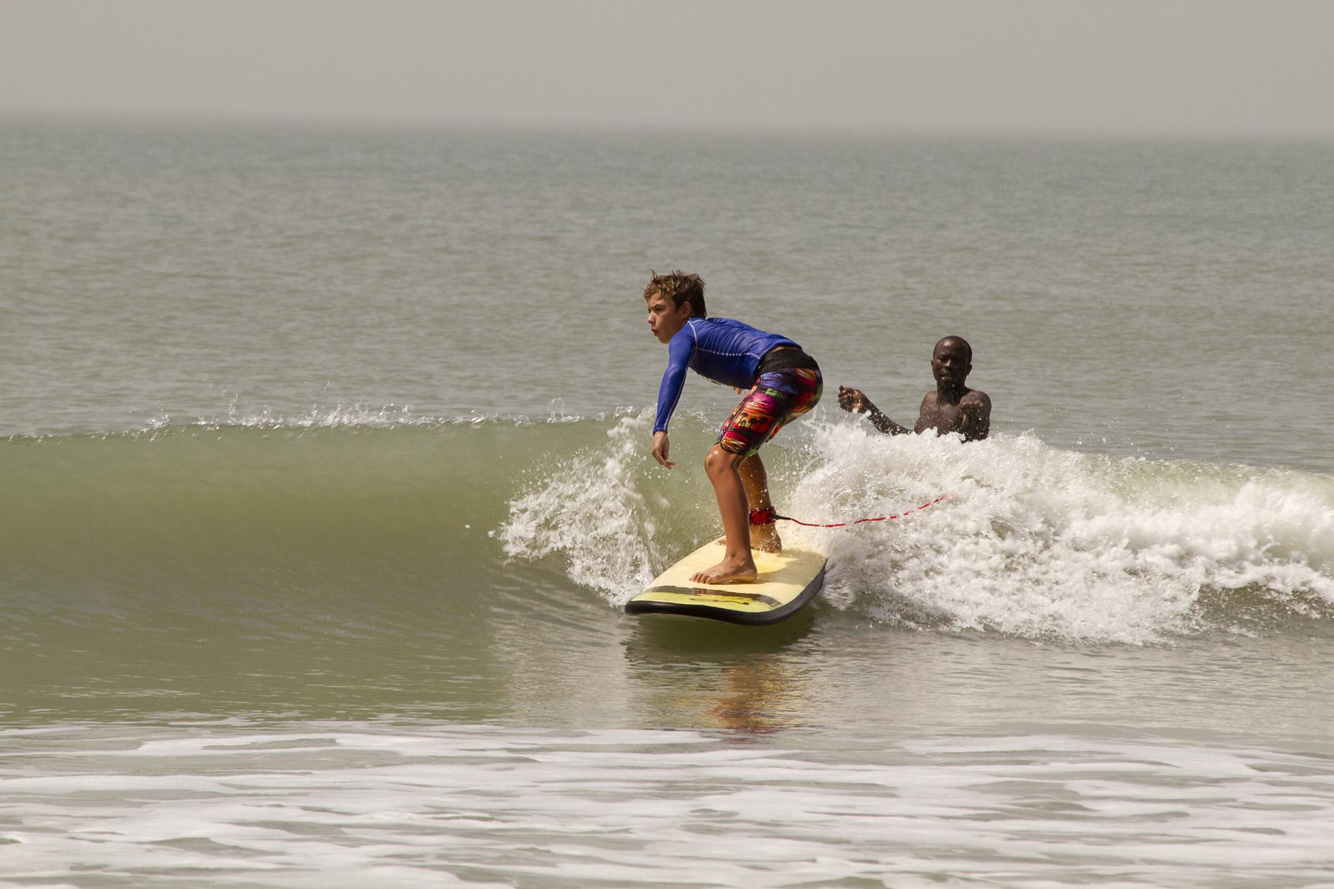 paquete escuela de surf en Senegal