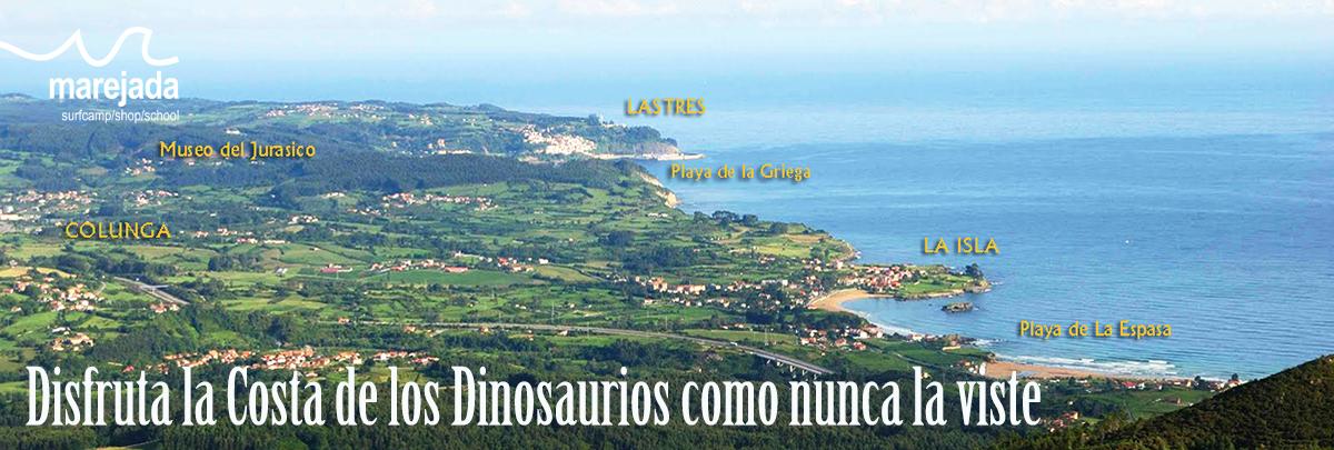 travesias sup padel costa dinosaurios