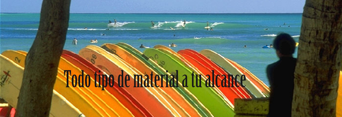 alquiler material surf sup