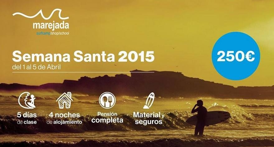 oferta surf camp semana santa 2015