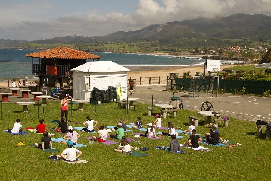 Hacer Yoga en un sitio así es un lujo